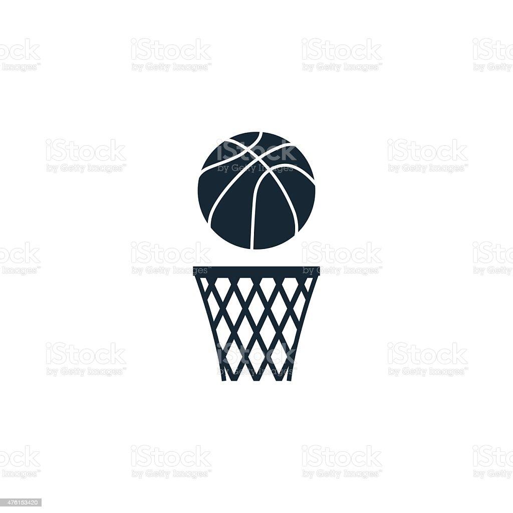 basketball ball icon vector art illustration