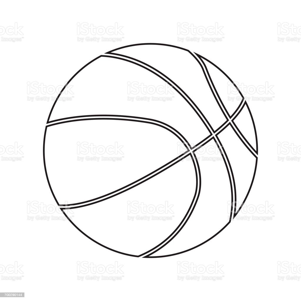 Basketball ball silhouette. For your business project. Vector Illustration vector art illustration