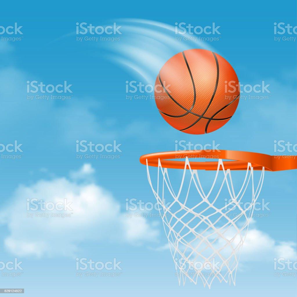 Basketball Ball vector art illustration