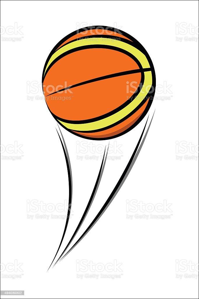 Basketball balloon sketch royalty-free stock vector art