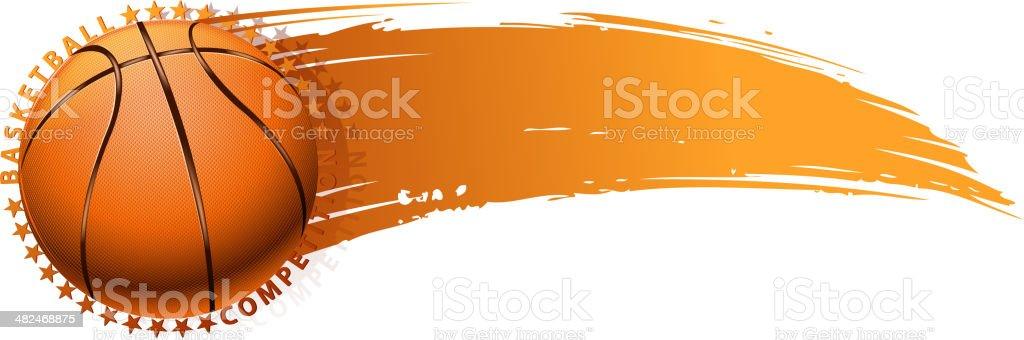 basketball banner royalty-free stock vector art
