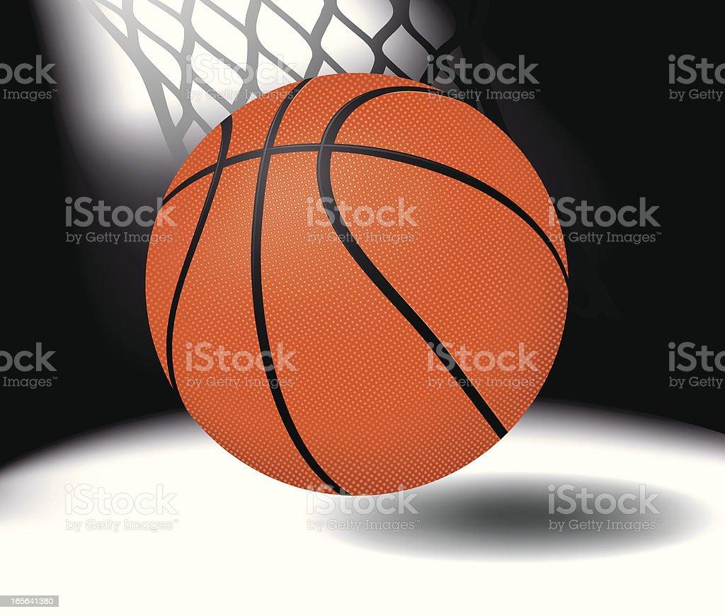 Basketball Bouncing Vector vector art illustration
