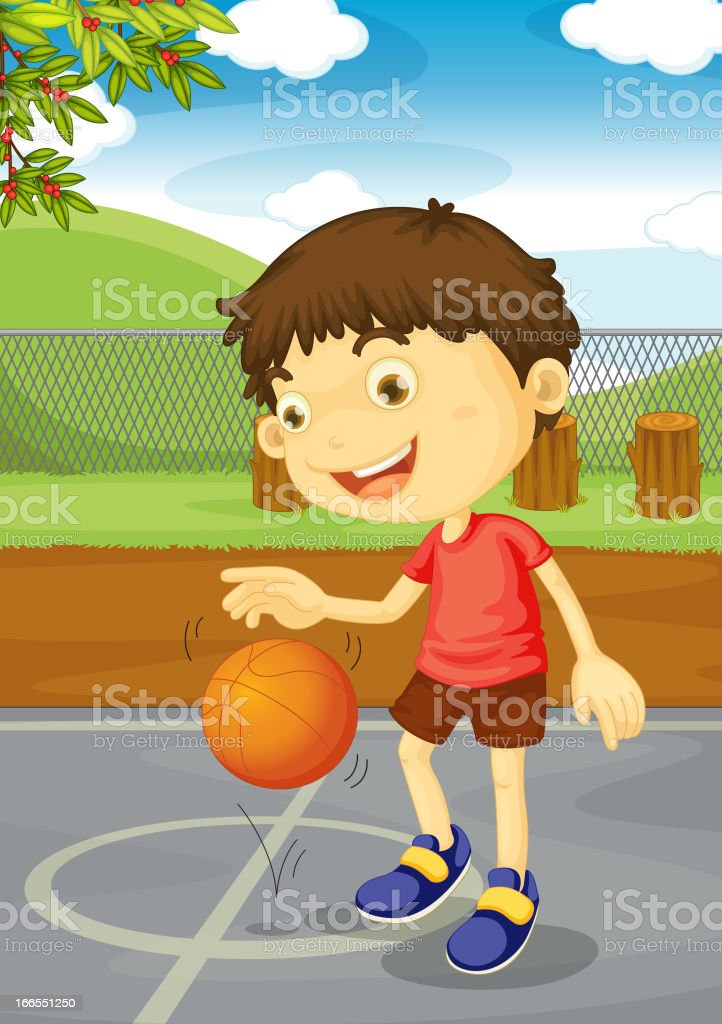 Basketball boy royalty-free stock vector art