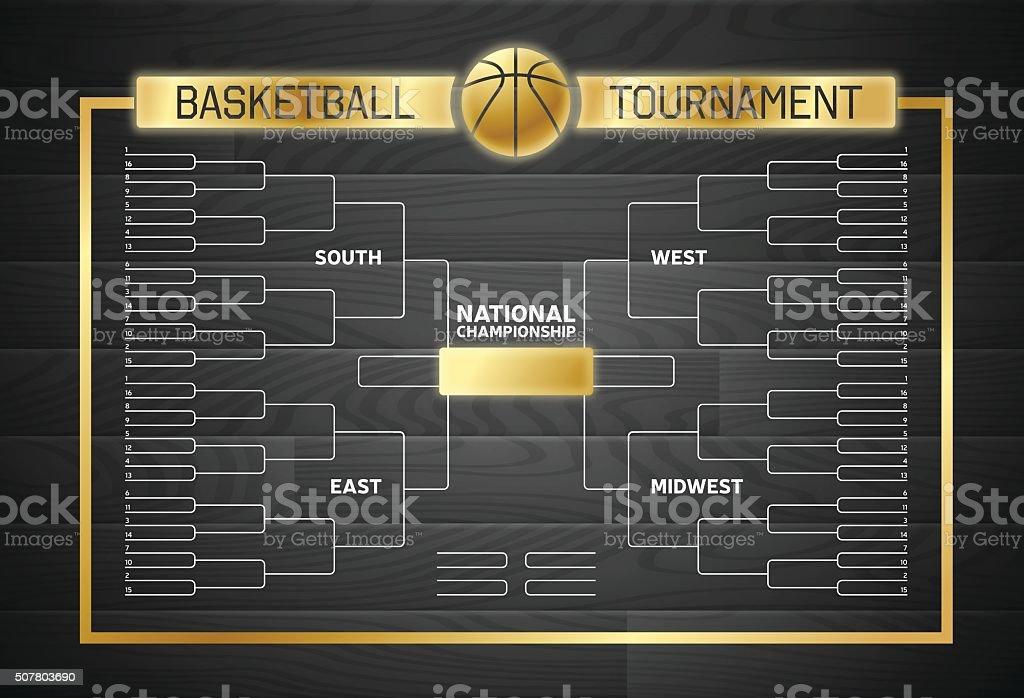 Basketball Bracket Background vector art illustration