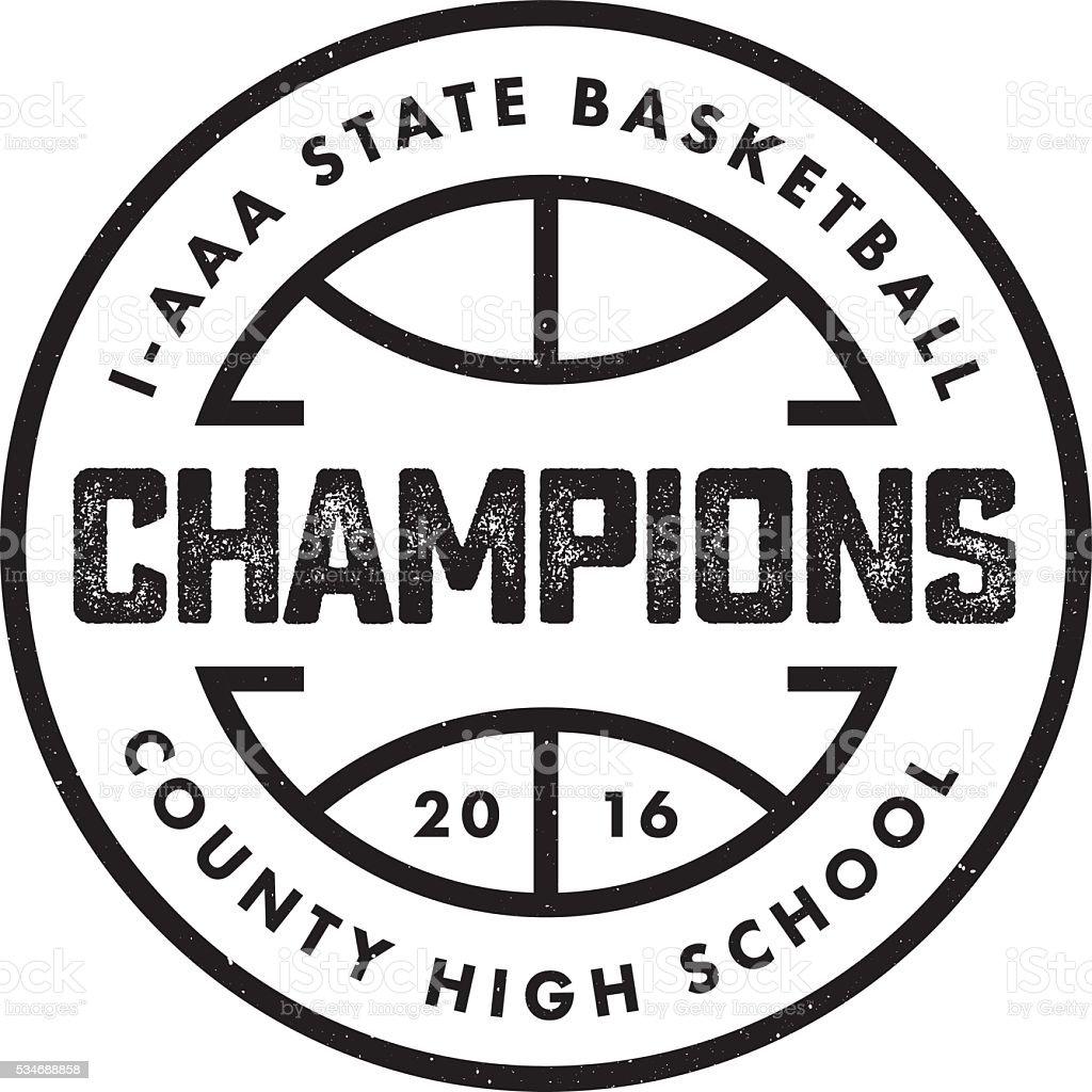Basketball Champions vector art illustration