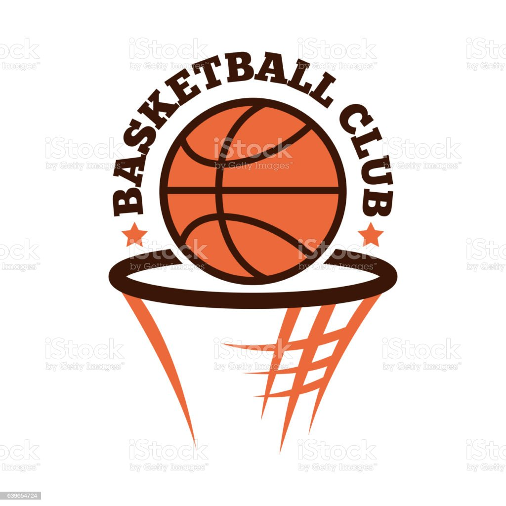 Basketball championship badge vector. vector art illustration