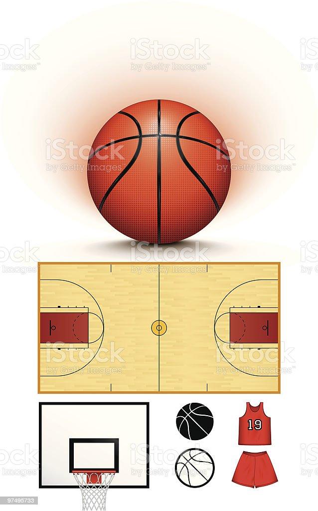 Basketball collection royalty-free stock vector art