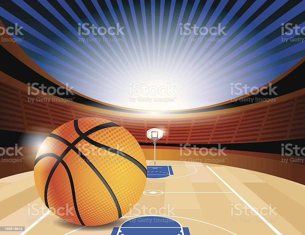 Basketball Court Stadium Side vector art illustration