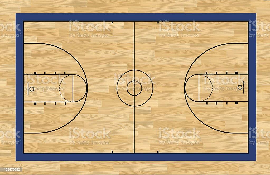 Basketball Court vector art illustration