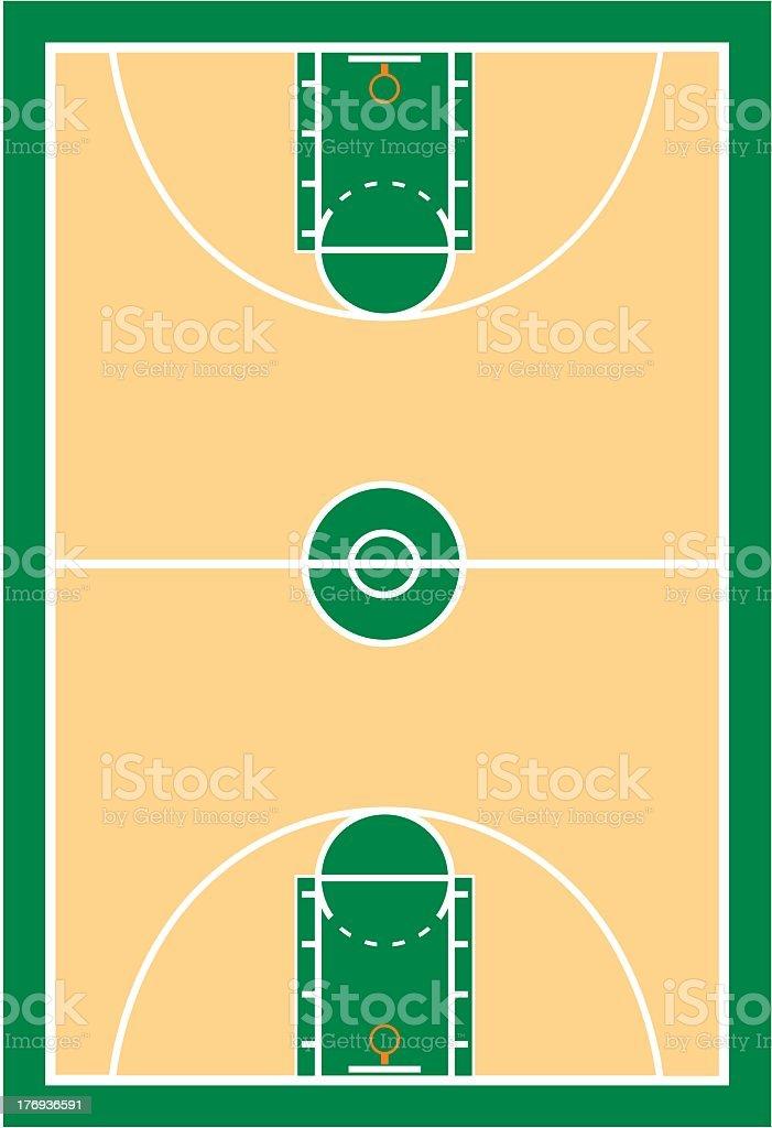 Basketball Court royalty-free stock vector art
