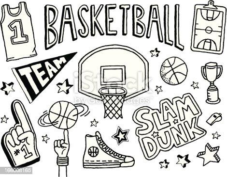 バスケットボールのスケッチ のイラスト素材 166008165 Istock