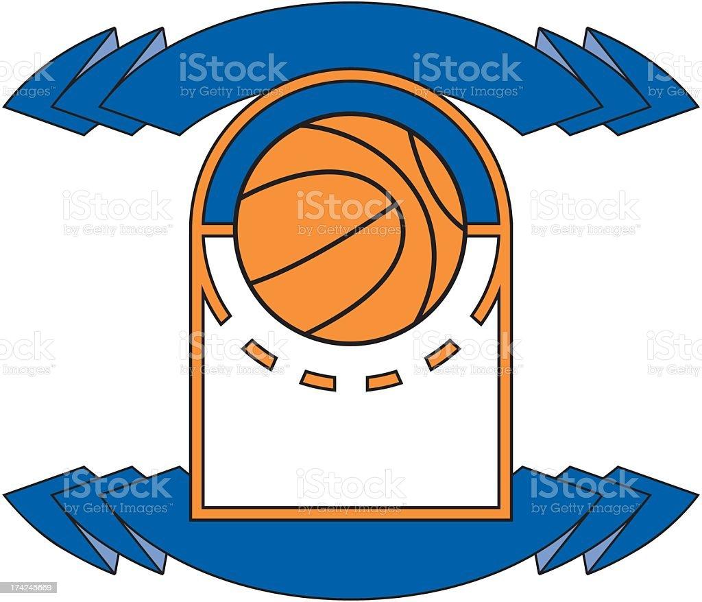 Basketball Emblem royalty-free stock vector art