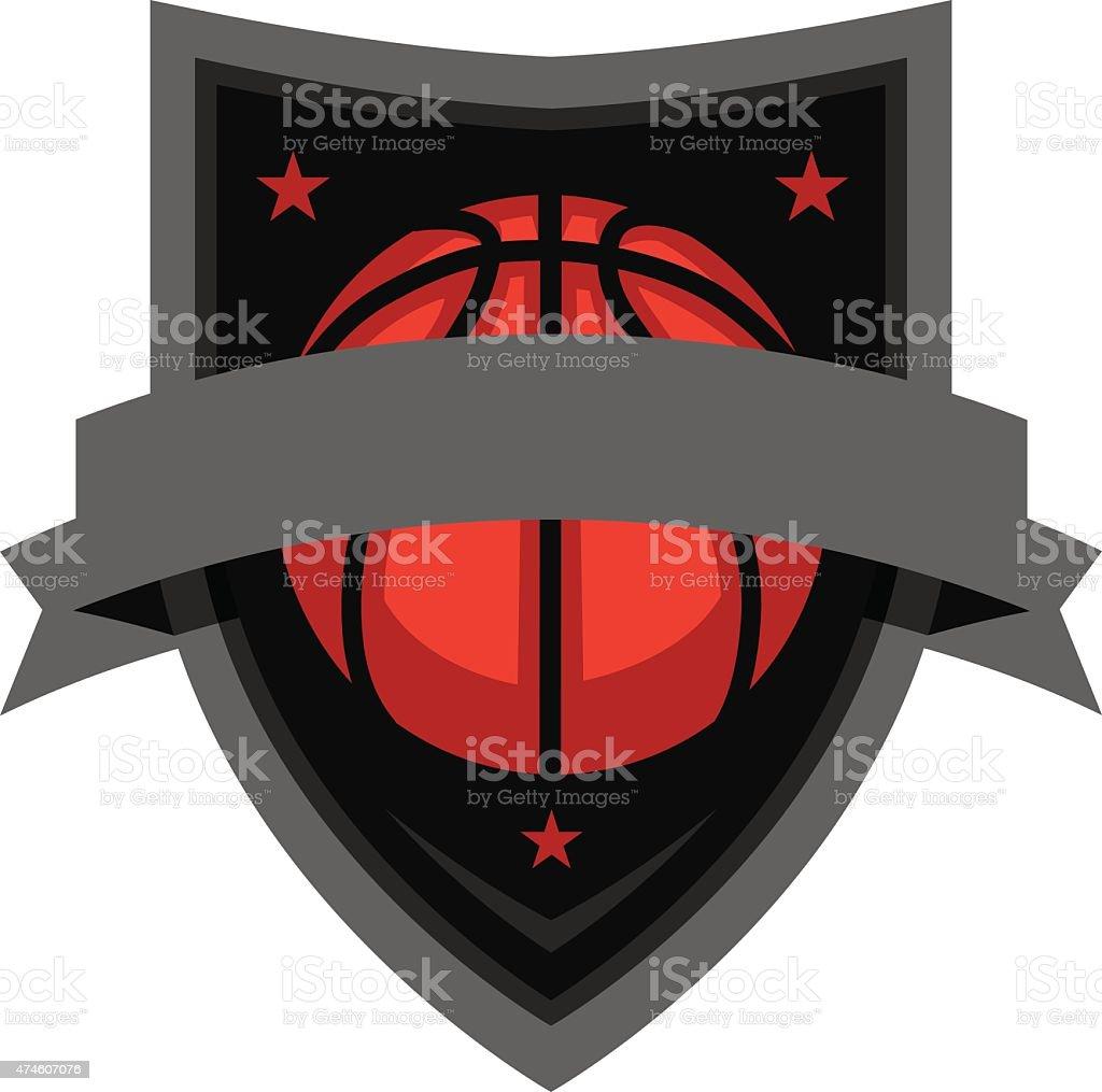 Basketball Emblem vector art illustration