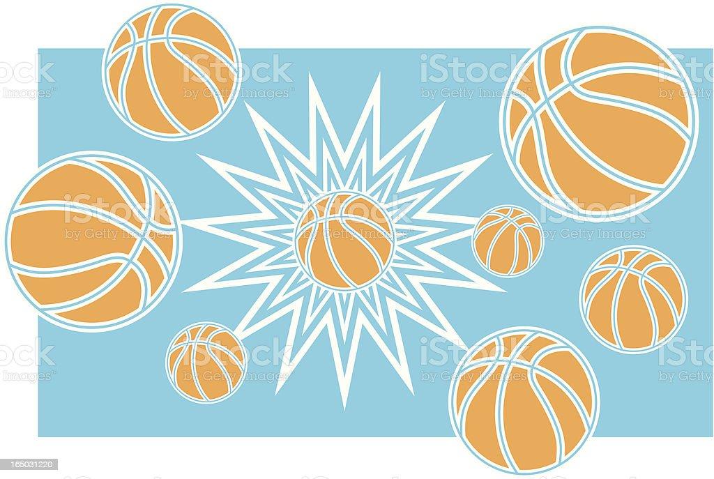 Basketball Explosion royalty-free stock vector art