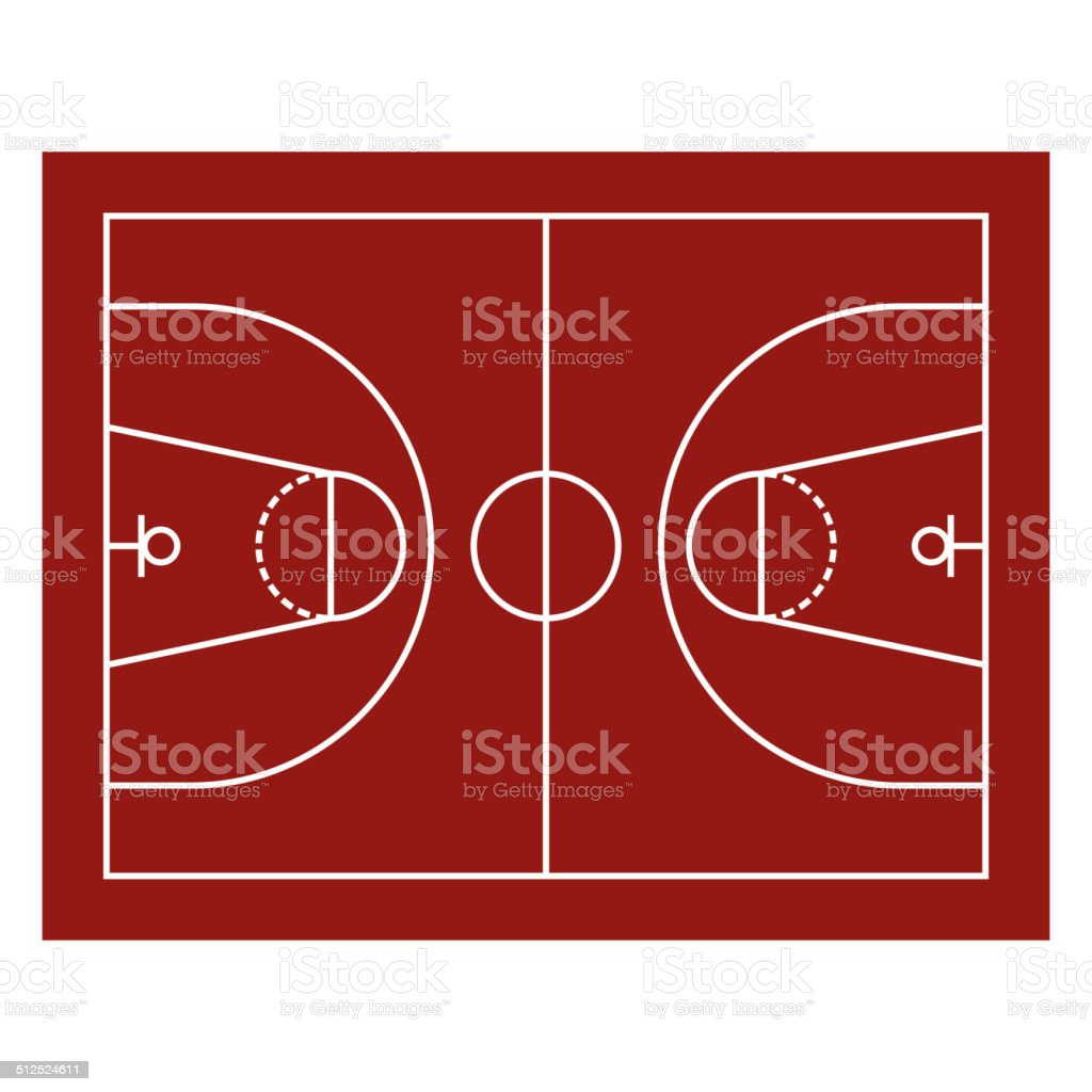 Basketball Field royalty-free stock vector art
