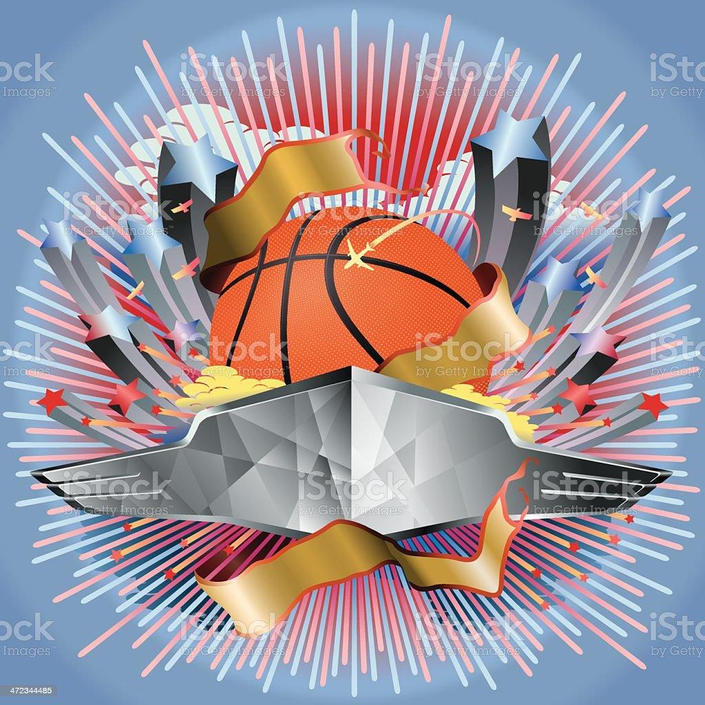 Basketball Game Entertainment Vector vector art illustration
