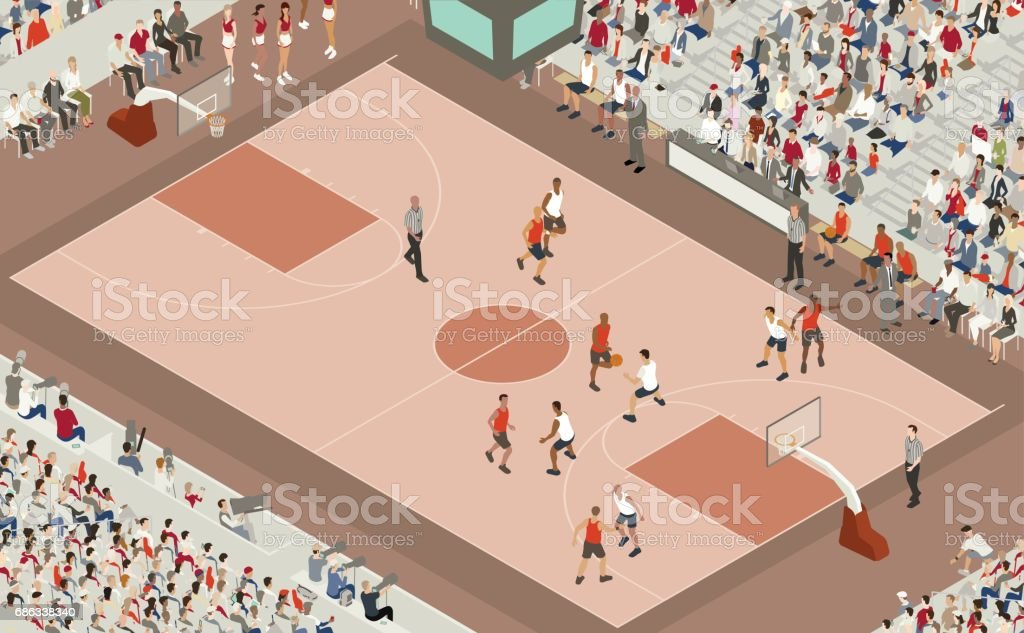 Basketball Game Illustration vector art illustration