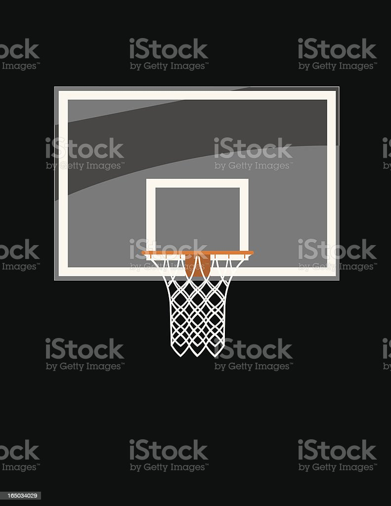 Basketball Glass Backboard royalty-free stock vector art