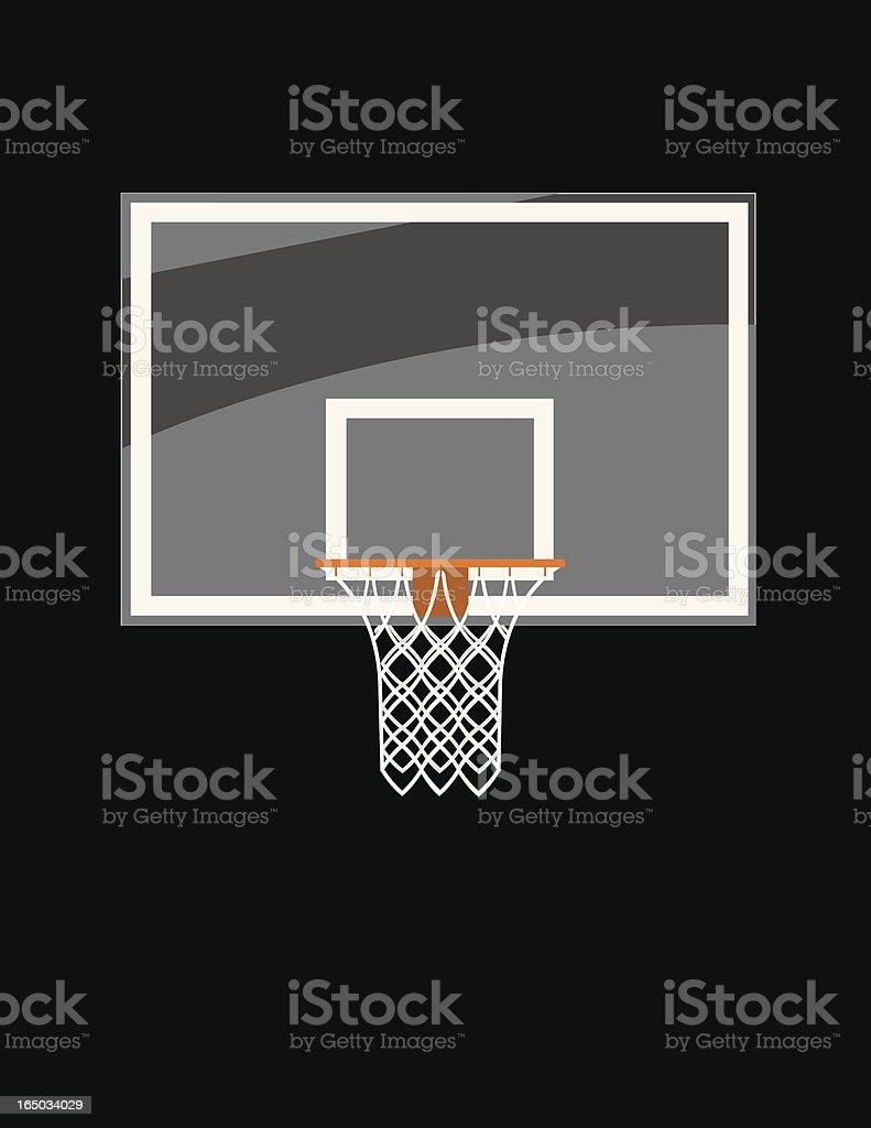 Basketball Glass Backboard vector art illustration