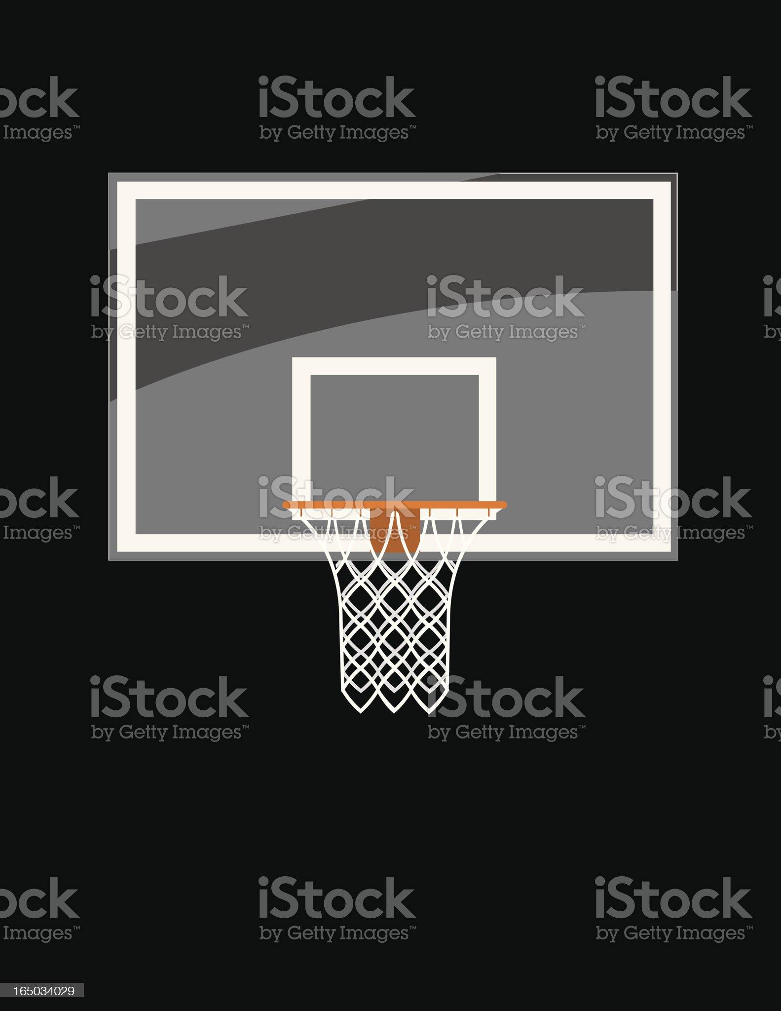 Basketball Glass Backboard royalty-free stock vector art