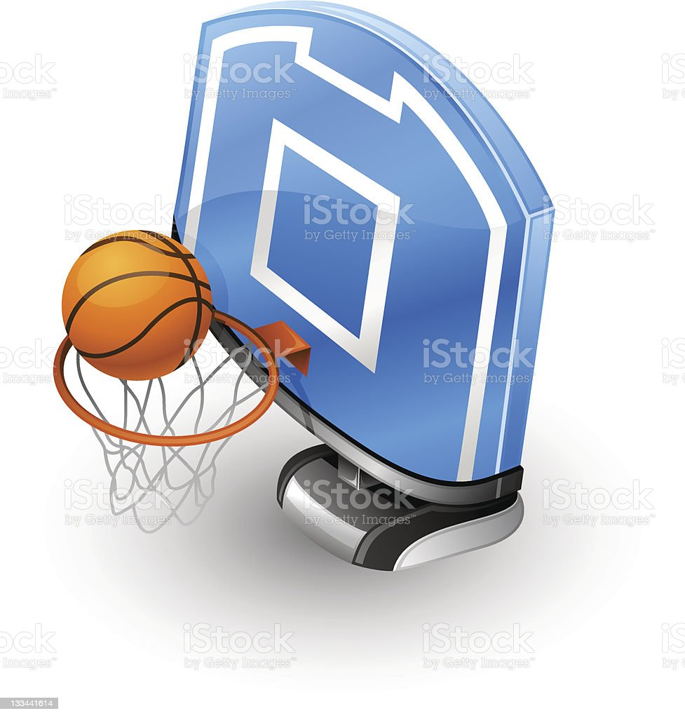 Basketball Hoop and Ball. royalty-free stock vector art