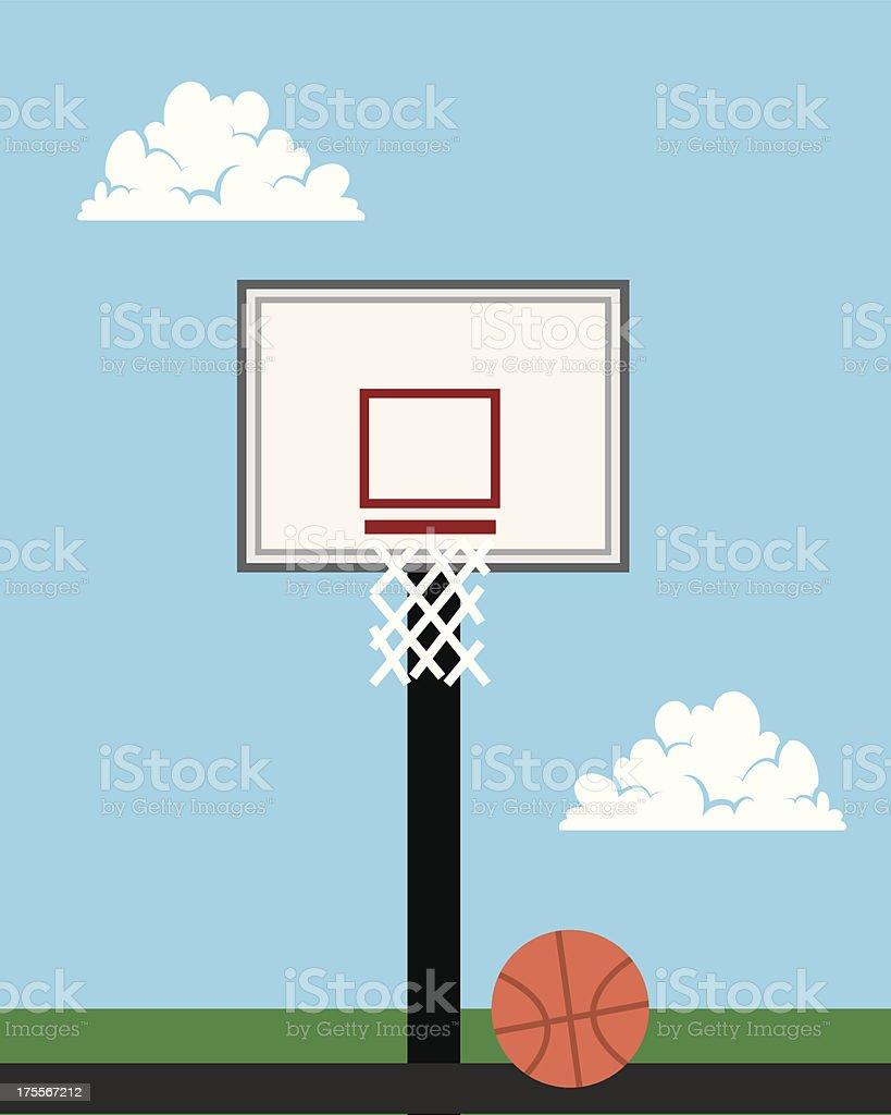 Basketball Hoop Outside royalty-free stock vector art