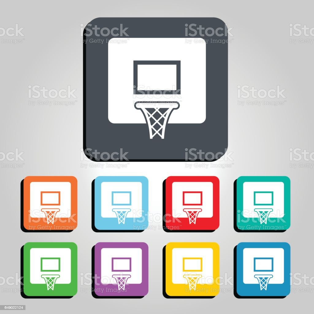 Basketball Hoop Vector Icon Illustration vector art illustration