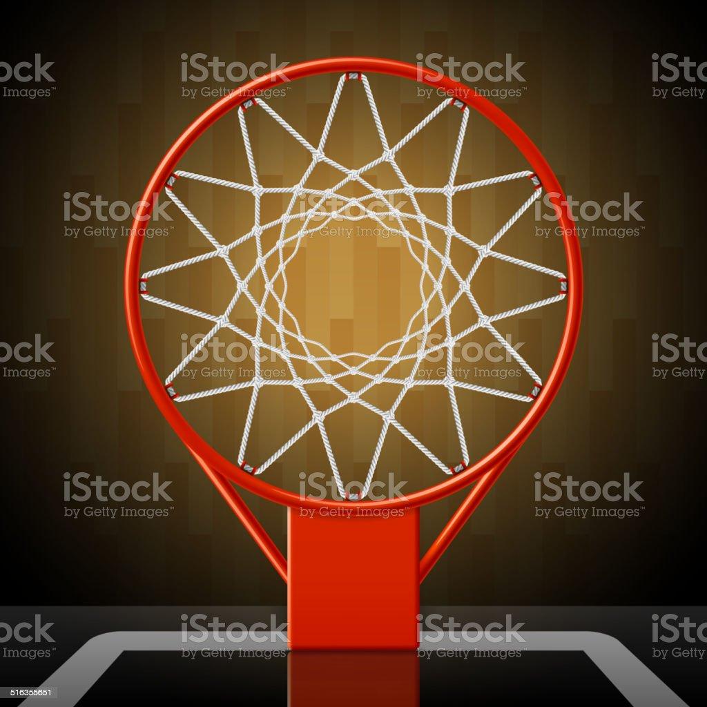 Basketball hoop vector art illustration
