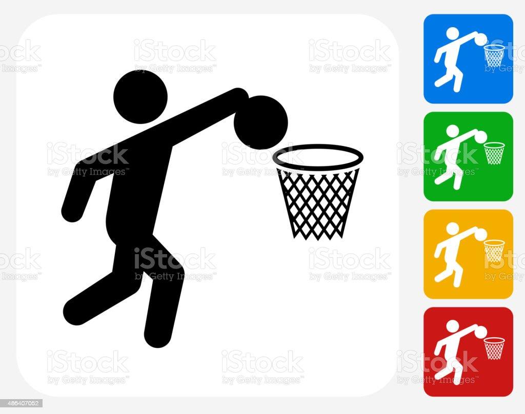 Basketball Icon Flat Graphic Design vector art illustration