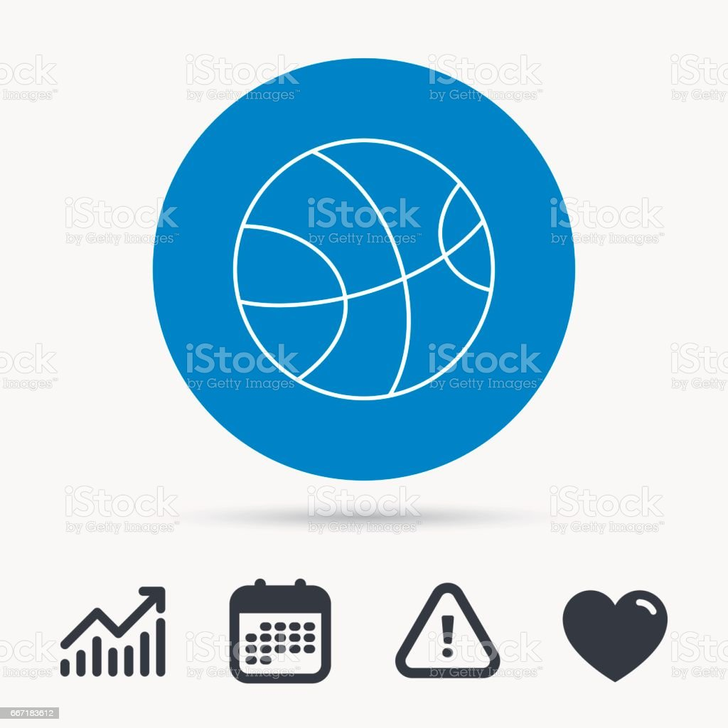 Basketball equipment icon. Sport ball sign. Team game symbol....