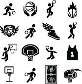 Basketball Icons - Black Series