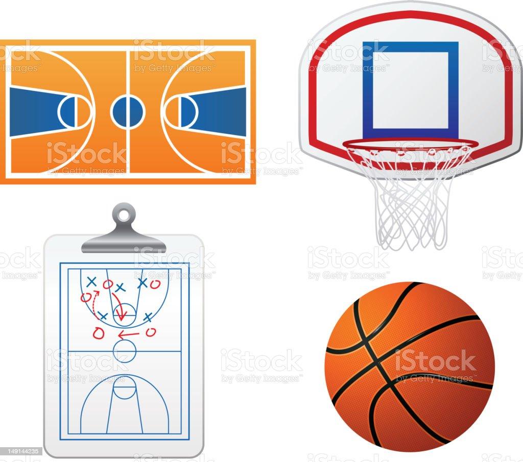 Basketball icons vector art illustration