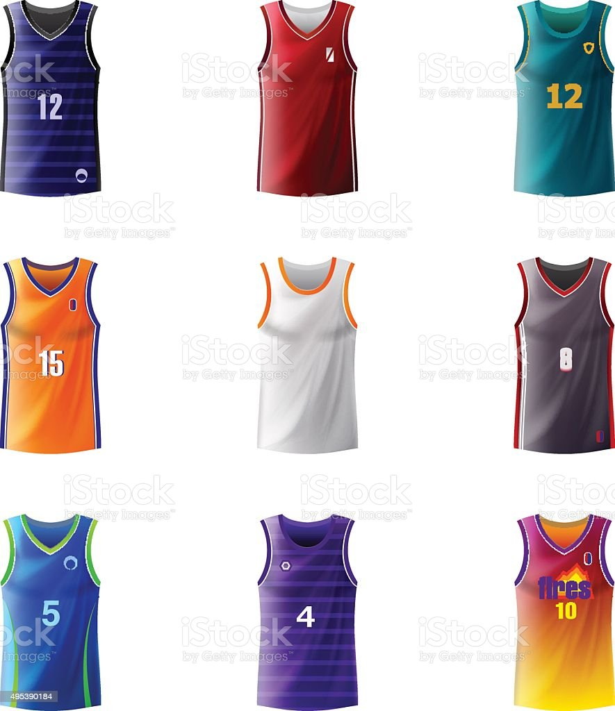 Basketball Jersey vector art illustration
