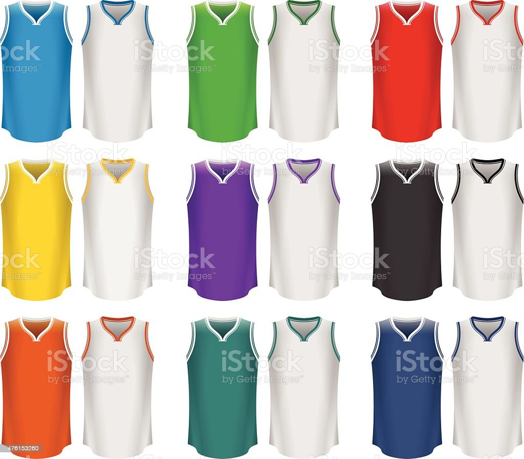 Basketball Jerseys, Basketball Uniform, Sport vector art illustration