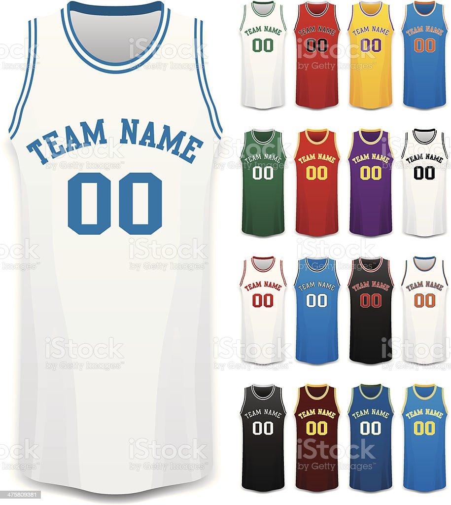 Basketball Jerseys royalty-free stock vector art