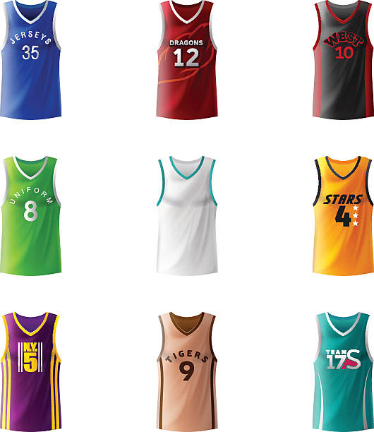Basketball Jersey Back Clip Art, Vector Images & Illustrations ...