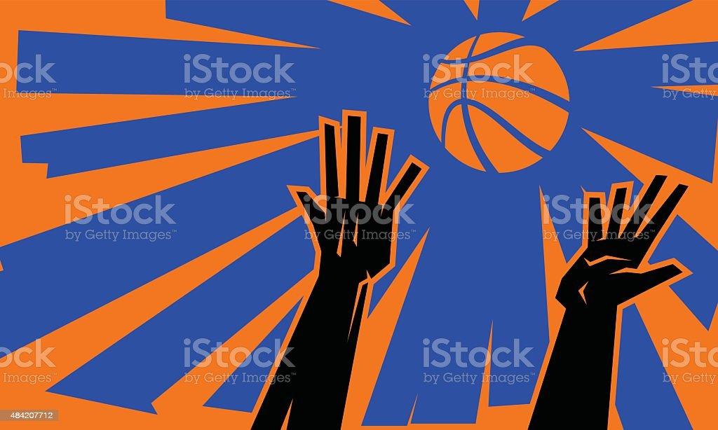Basketball Jump Ball vector art illustration