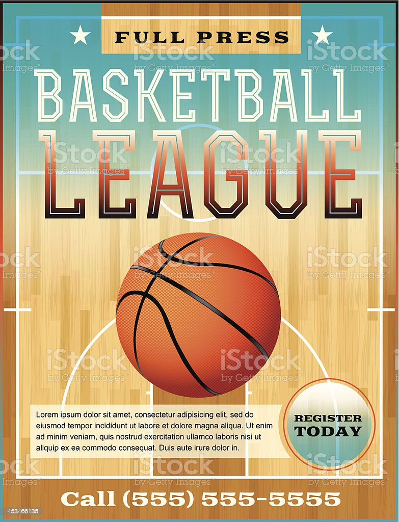 Basketball League Flyer vector art illustration