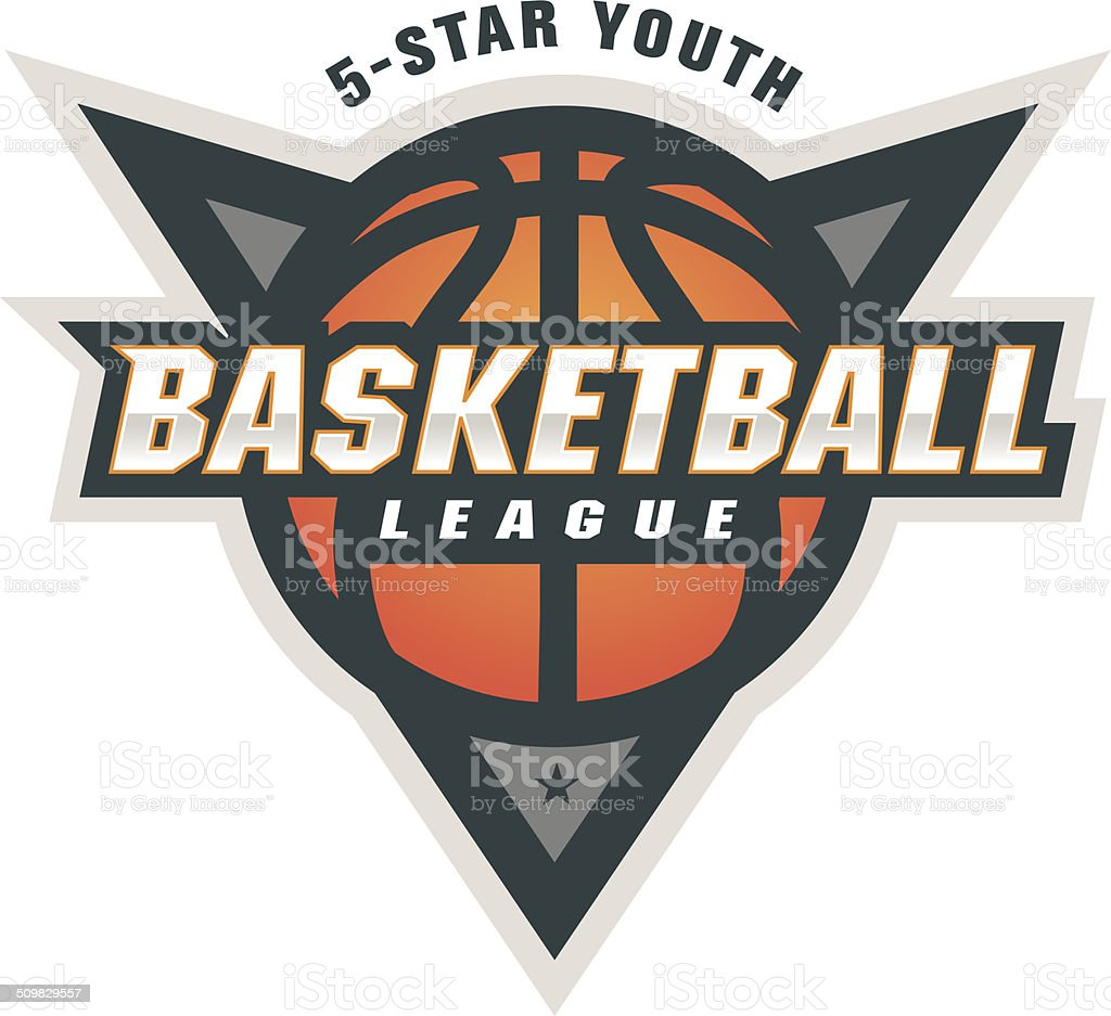 Basketball League Logo vector art illustration