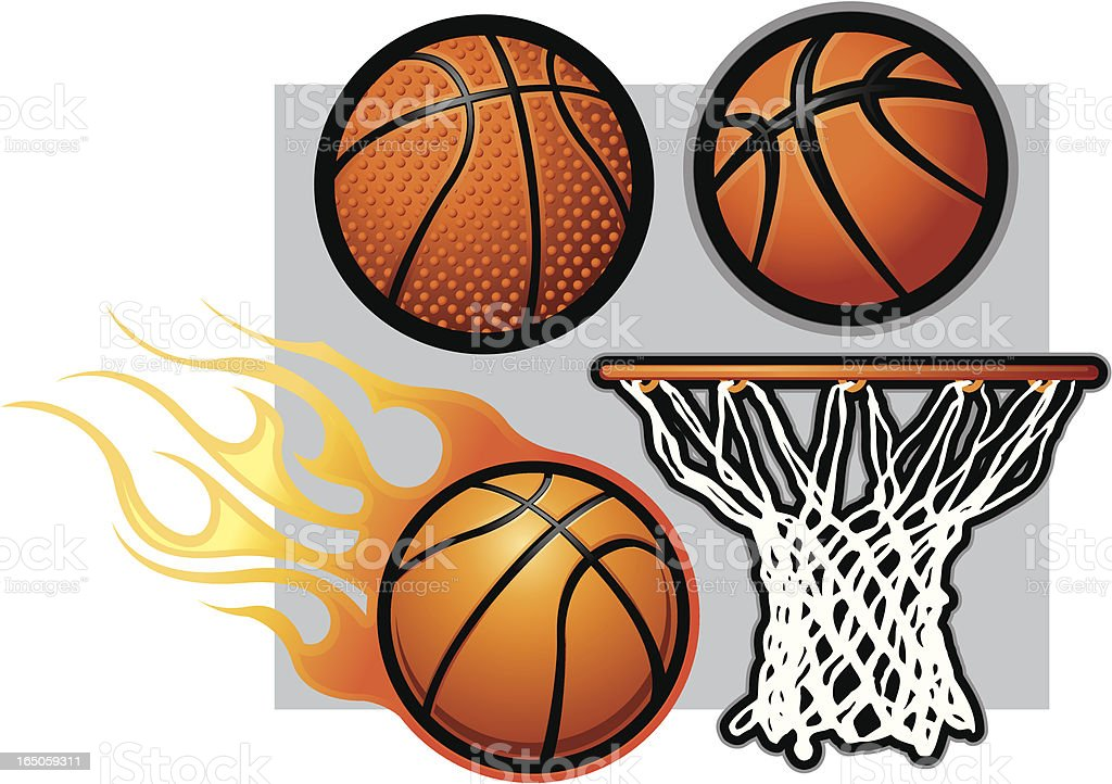 Basketball Library royalty-free stock vector art