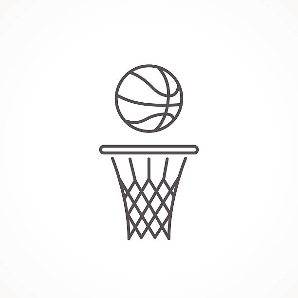 Line Art Icon : Basketball hoop clip art vector images illustrations