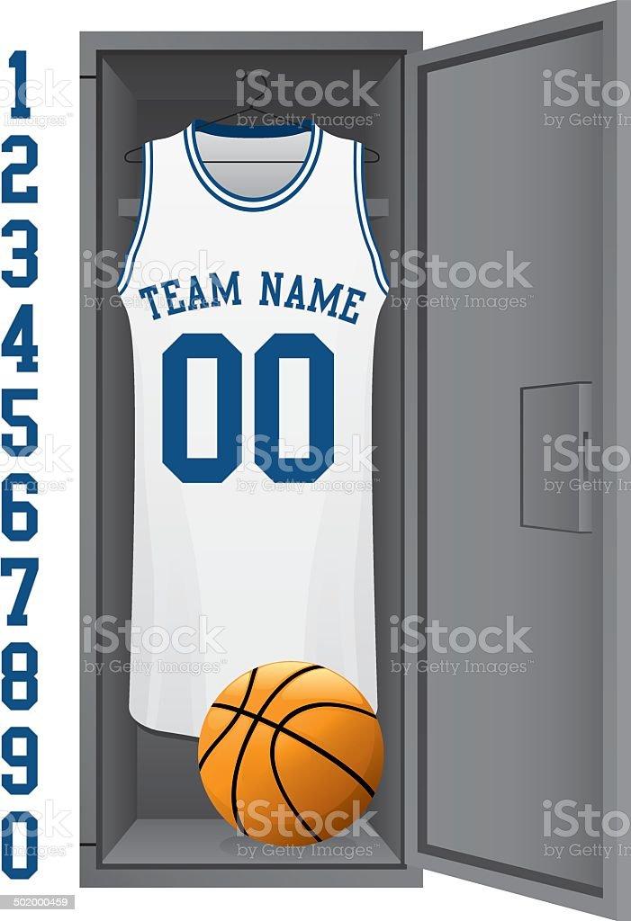Basketball Locker vector art illustration