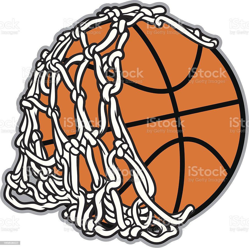 Basketball Net and Ball vector art illustration