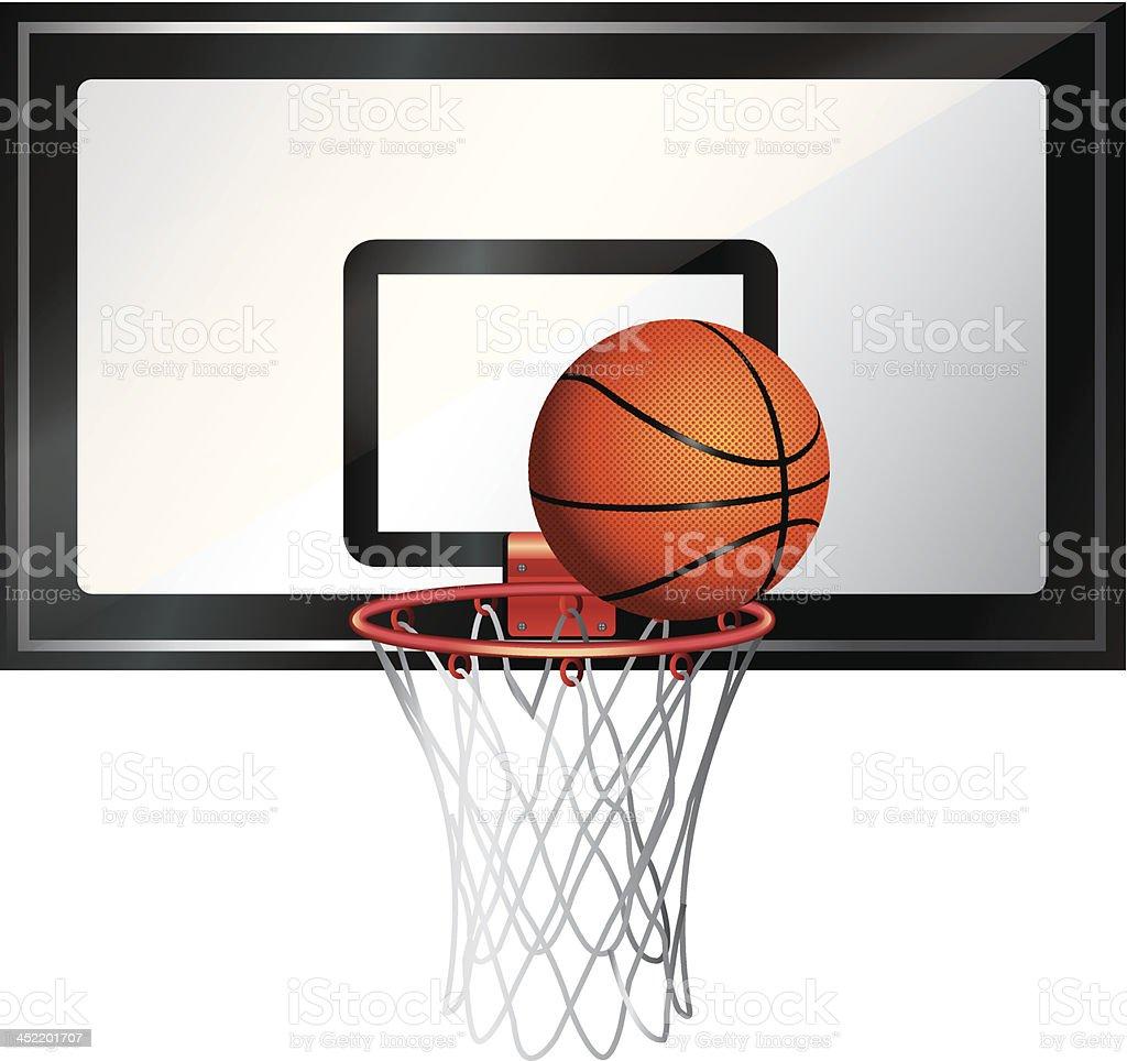 Basketball Net vector art illustration