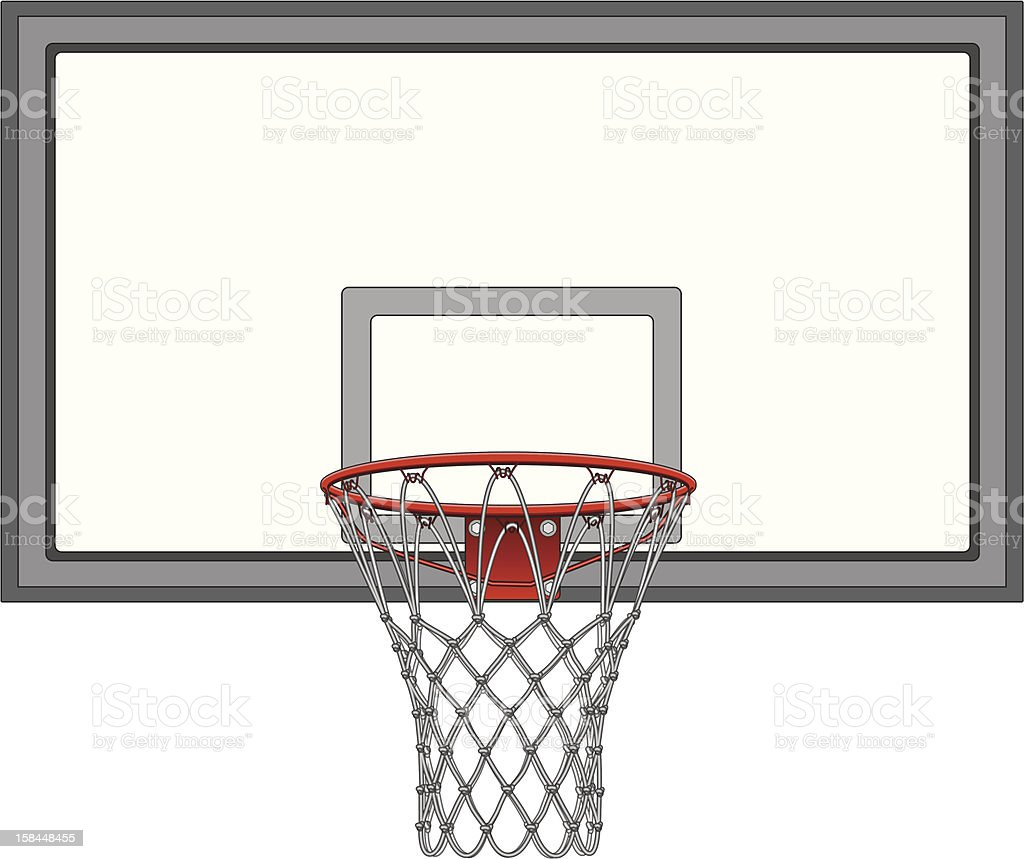 Basketball Net With Backboard vector art illustration