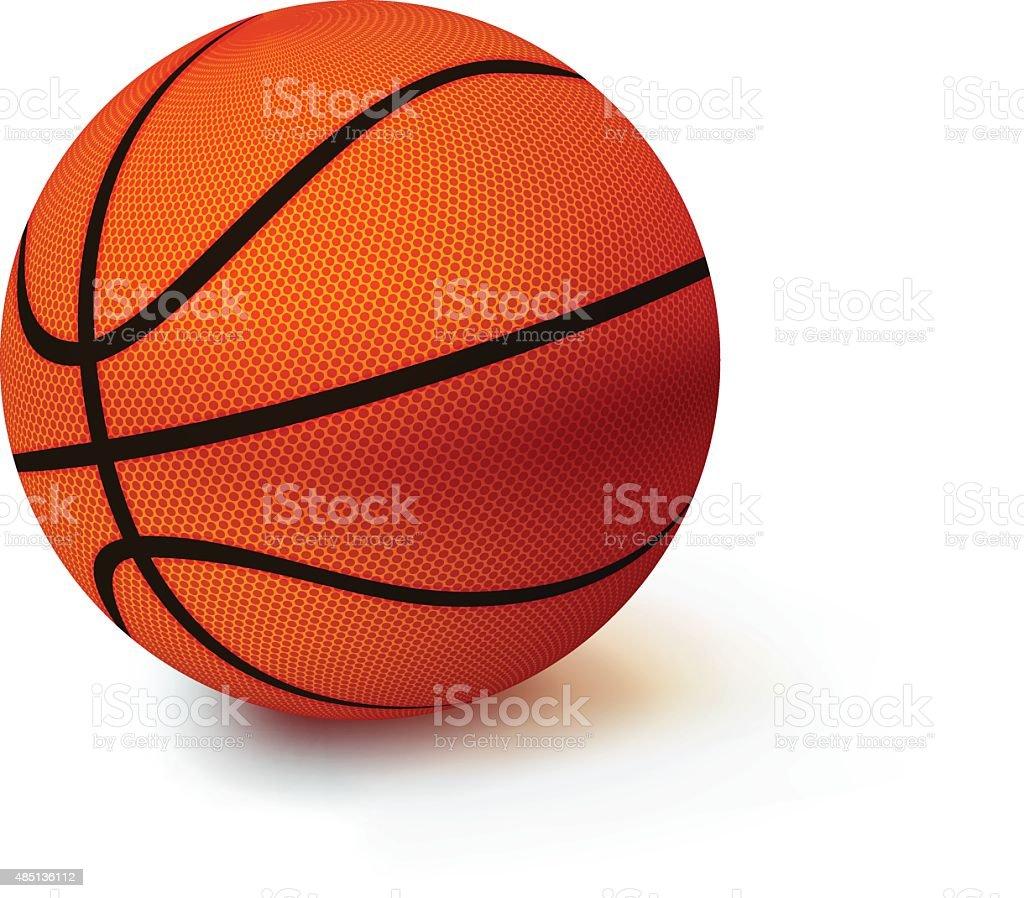Basketball on a white background vector art illustration
