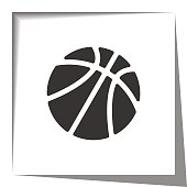 basketball paper cut out