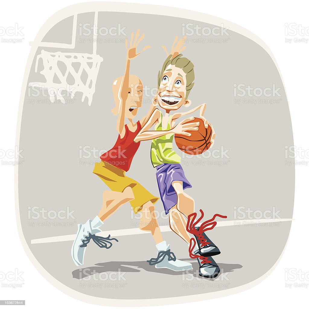 Basketball Player 02 royalty-free stock vector art