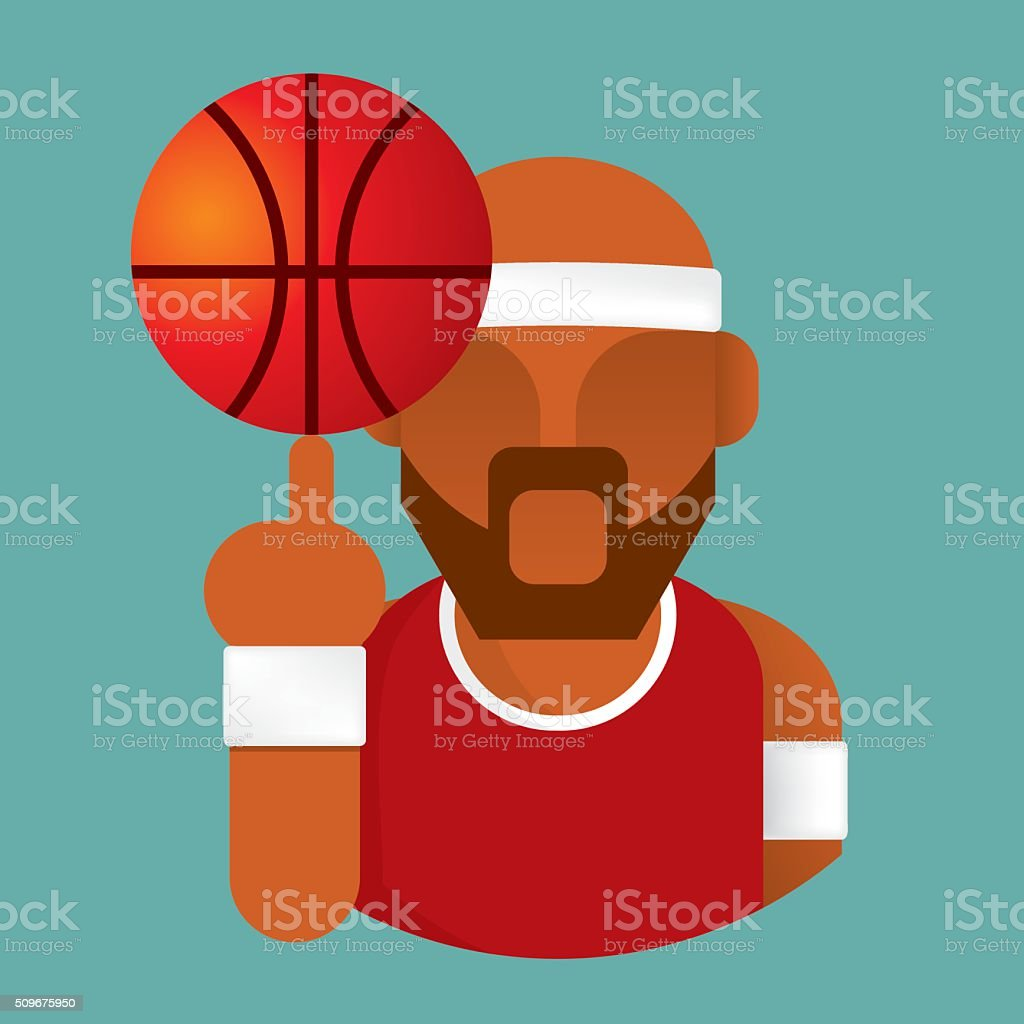 basketball player icon vector vector art illustration