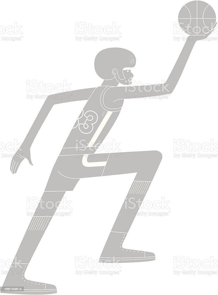 Basketball Player vector art illustration